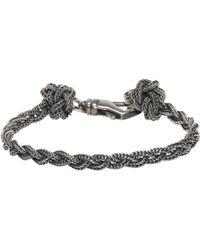 Emanuele Bicocchi | Silver Braided Knots Bracelet | Lyst