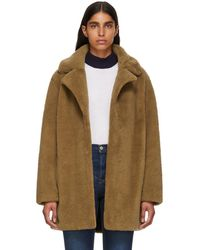 Meteo by Yves Salomon - Tan Curly Sheep Coat - Lyst