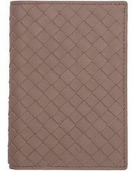 Bottega Veneta - ピンク イントレチャート パスポート ホルダー - Lyst