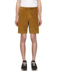 Norse Projects Tan Corduroy Aros Shorts