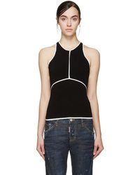 DSquared² - Black & White Racerback Top - Lyst