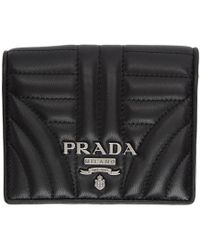 Prada - Black Quilted French Wallet - Lyst