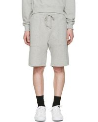 Noah - Grey Solid Lounge Shorts - Lyst
