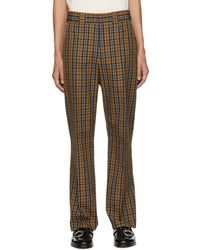 Hope - Beige And Blue Check Ric Trousers - Lyst