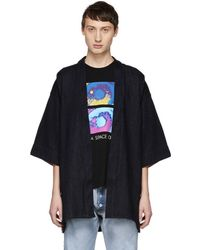 Naked & Famous - Blue Loose Weave Haori Shirt - Lyst