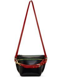 Sacai - Navy Trapezoid Shoulder Bag - Lyst
