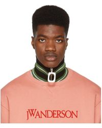 JW Anderson - Green Thick Stripe Neck Band - Lyst