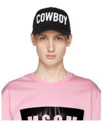 DSquared² - Black Cowboy Baseball Cap - Lyst