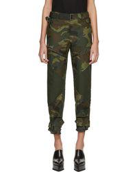 Sacai - Khaki Camouflage Trousers - Lyst