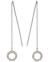 Isabel Marant - Silver Long Circle Drop Earrings - Lyst