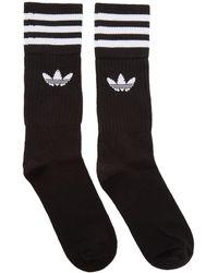 adidas Originals - Three-pack Black Solid Crew Socks - Lyst