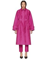 Off-White c/o Virgil Abloh - Pink Moire Over Mackintosh Coat - Lyst