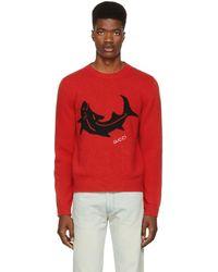 Gucci - Red Shark Jumper - Lyst