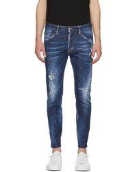 DSquared² - Blue Top Spot Skinny Dan Jeans - Lyst