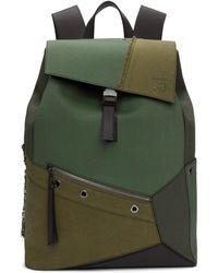 Loewe - Khaki Puzzle Backpack - Lyst
