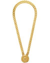 Versace Collier dore Crystal Medusa - Métallisé