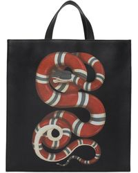 Gucci - Black Snake Tote - Lyst