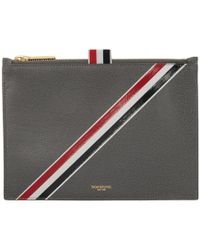 Thom Browne - Grey Large Coin Pouch - Lyst