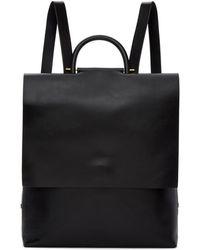 Building Block | Black Leather Rucksack | Lyst