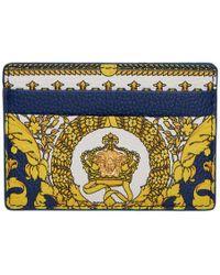 Versace Porte-cartes bleu et blanc Heritage