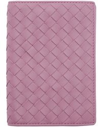 Bottega Veneta | Purple Intrecciato Passport Holder | Lyst
