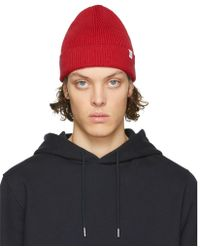 Norse Projects - Red Cotton Watch Beanie - Lyst