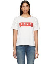 AMO - White Love Tomboy T-shirt - Lyst