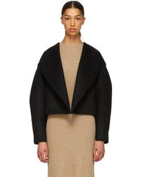 Totême  - Black Wool Bellac Jacket - Lyst