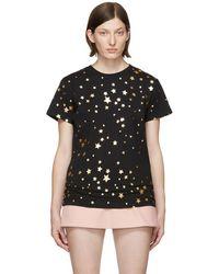 RED Valentino - Black Cascading Stars T-shirt - Lyst