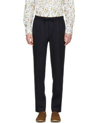 Tiger Of Sweden - Navy Loch Trousers - Lyst