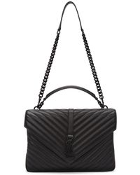 Saint Laurent - Black Large College Bag - Lyst