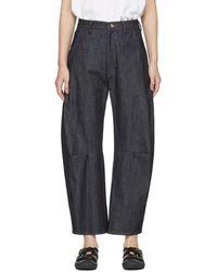Y's Yohji Yamamoto - Indigo U-gusset Wide Jeans - Lyst