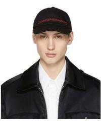 CALVIN KLEIN 205W39NYC - Black Logo Cap - Lyst