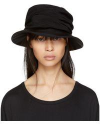 Y's Yohji Yamamoto - Black Drape Cloche Hat - Lyst