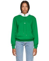 Helmut Lang - Green And White Tokyo Edition Taxi Hoodie - Lyst