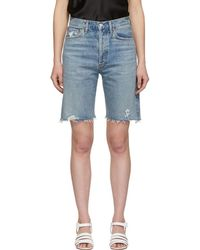 Agolde - Blue Denim 90s Loose Fit Shorts - Lyst