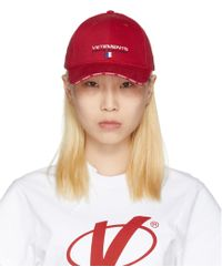 Vetements - Red Haute Couture Logo Baseball Cap - Lyst