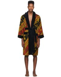 Versace - Red And Gold I Heart Baroque Robe - Lyst