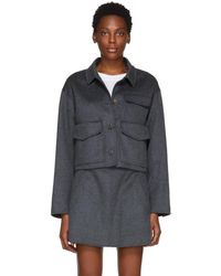 Carven - Grey Cashmere And Wool Jacket - Lyst
