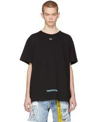 Off-White c/o Virgil Abloh - Black Diagonal Temperature T-shirt - Lyst