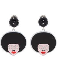 Prada - Multicolor Pop Rock Angela Comic Earrings - Lyst