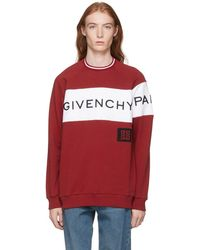 Fit Logo Vintage Molletonne Et Blanc Rouge Pull Lyst A Givenchy wPO1x