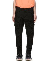 Julius - Black Cotton Stretch Back Cargo Pants - Lyst