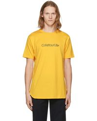 Nonnative - Yellow 'color Your Life' T-shirt - Lyst