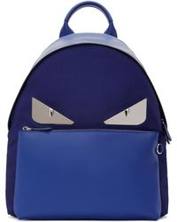 Fendi - Blue And Navy Bag Bugs Backpack - Lyst
