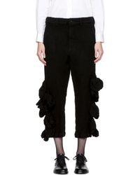 Comme des Garçons - Black Wool Bulbous Attachments Trousers - Lyst