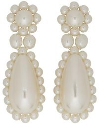 Simone Rocha - White Pearl Drop Earrings - Lyst