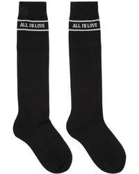 Stella McCartney - Black All Is Love High Socks - Lyst