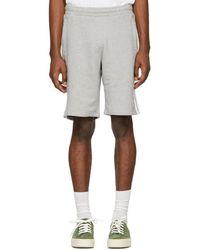 adidas Originals - Grey 3-stripe Shorts - Lyst