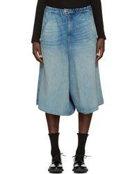 6397 - Indigo Denim Shorts - Lyst